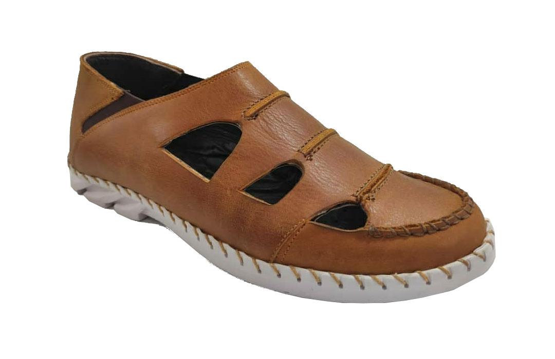 کفش تابستانی  طبی راحتی مردانه چرم طبیعی تبریز کد 387