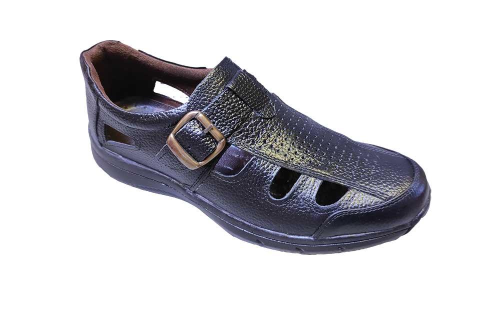 کفش تابستانی  طبی راحتی مردانه چرم طبیعی تبریز کد 397