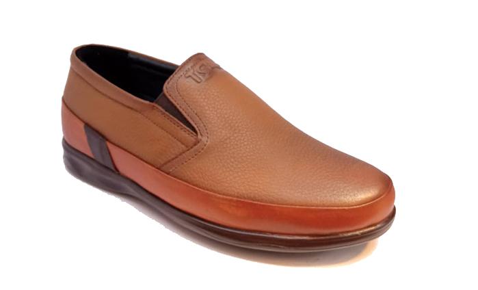 کفش راحتی مردانه تمام چرم طبیعی گاوی تبریز کد 325