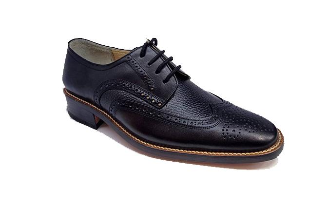 کفش مجلسی مردانه تمام چرم طبیعی گاوی تبریز کد 328