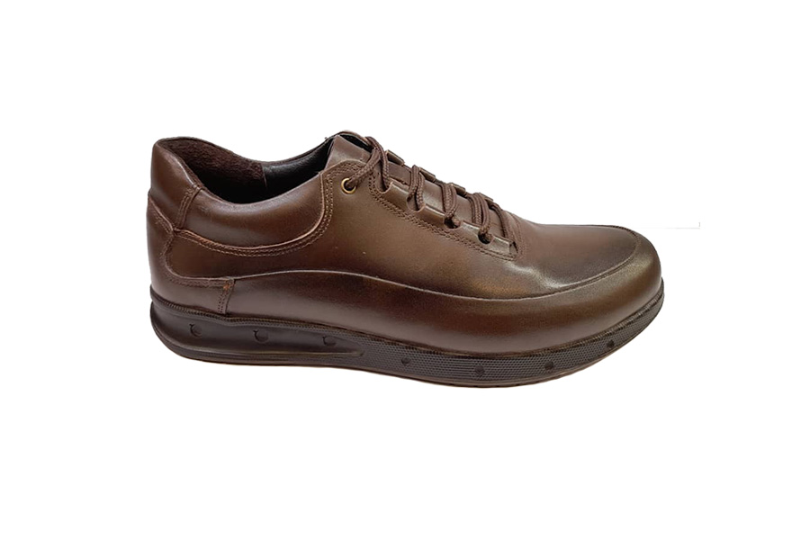 کفش راحتی مردانه چرم طبیعی گاوی تبریز کد 355