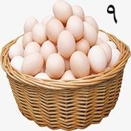 تخم مرغ ۹ عددی طلقی