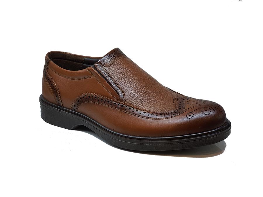 کفش مجلسی مردانه چرم طبیعی تبریز کد 169
