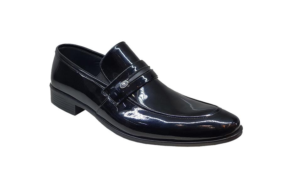 کفش ورنی مجلسی مردانه چرم  طبیعی دستدوز  تبریز کد 159