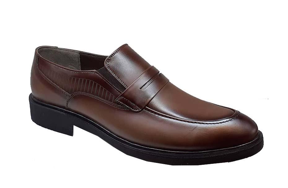 کفش چرم  طبیعی مجلسی مردانه دستدوز  تبریز کد 076