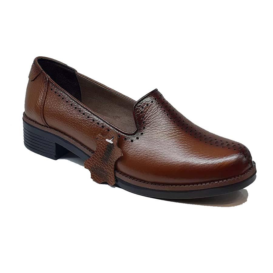 کفش زنانه چرم طبیعی دست دوز تبریز کد 083