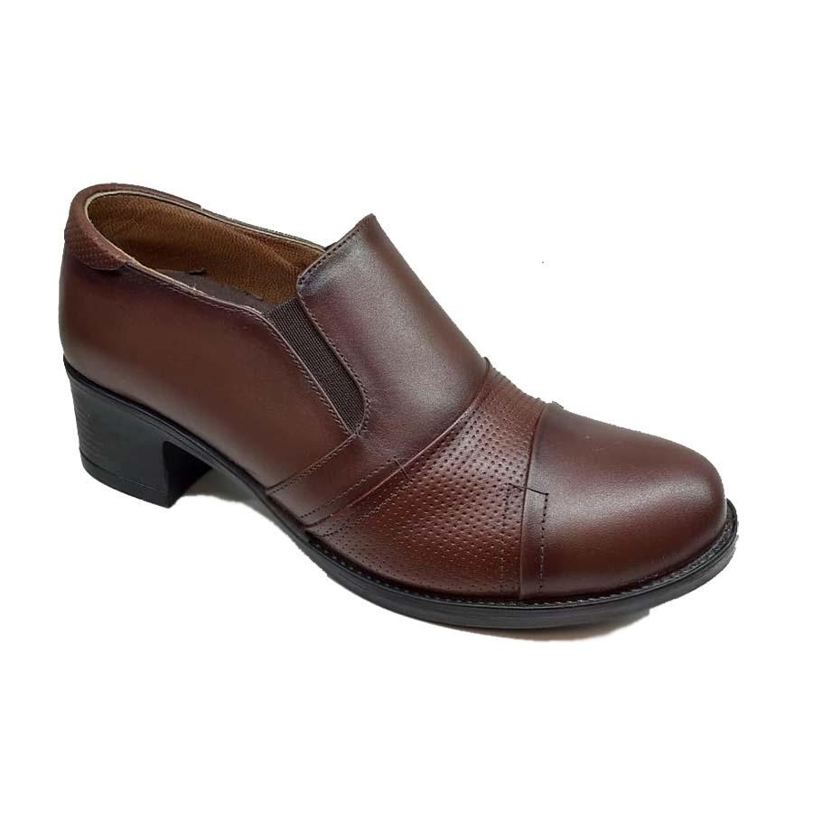 کفش راحتی زنانه  چرم طبیعی دست دوز تبریز کد 098