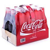 پک ۱۲ عددی نوشابه شیشه ای کوکا کولا