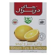 چای سبز و لیمو دوغزال