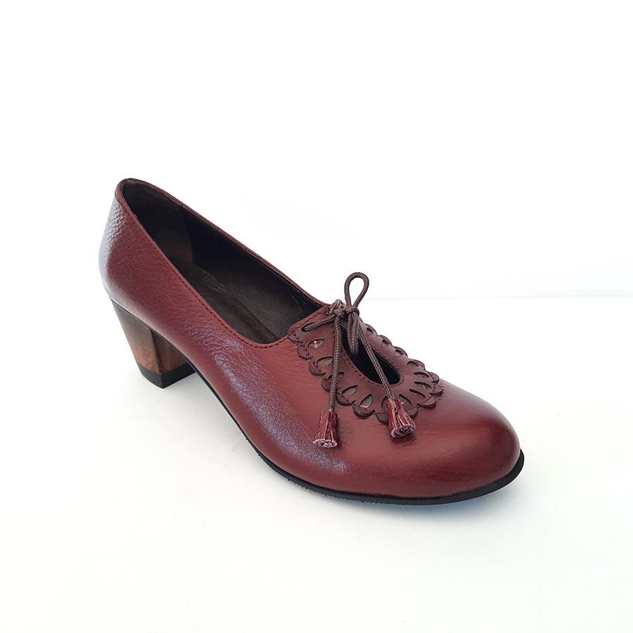 کفش زنانه چرم طبیعی دست دوز تبریز کد 701
