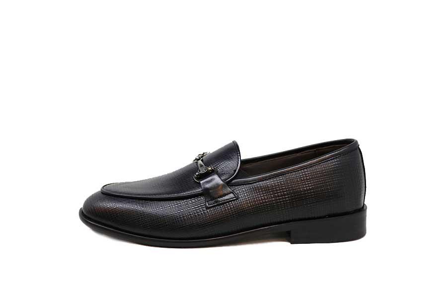 کفش چرم طبیعی مردانه رسمی مدل LV