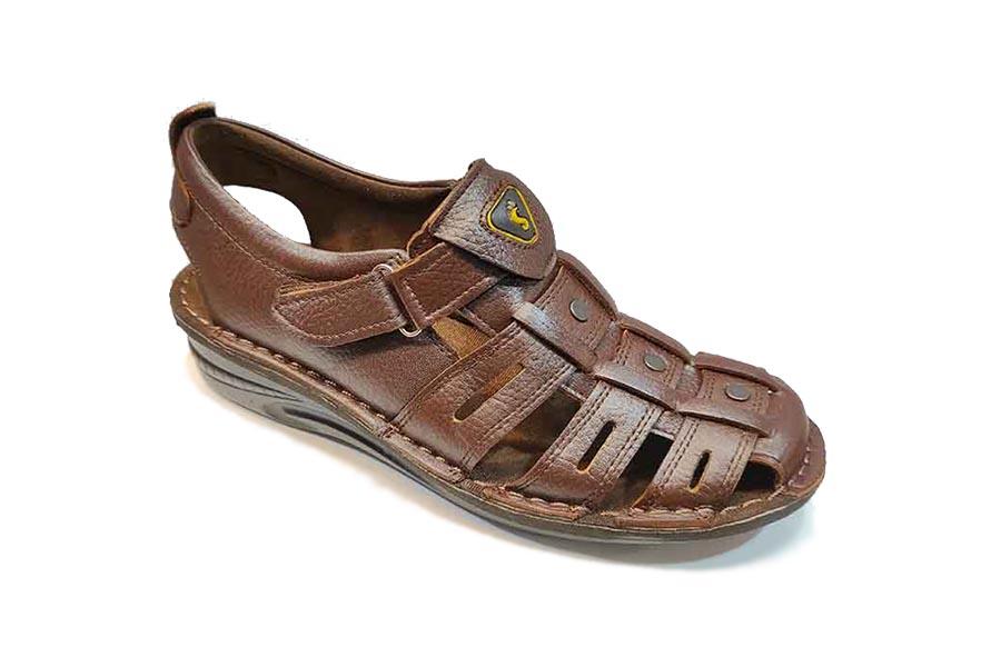 کفش تابستانی  طبی راحتی مردانه چرم طبیعی تبریز کد 432