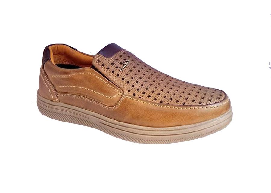 کفش تابستانی  طبی راحتی مردانه چرم طبیعی تبریز مدل کلارک کد465