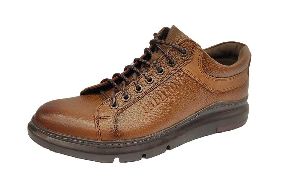 کفش کتونی مردانه چرم طبیعی  تبریز کد497