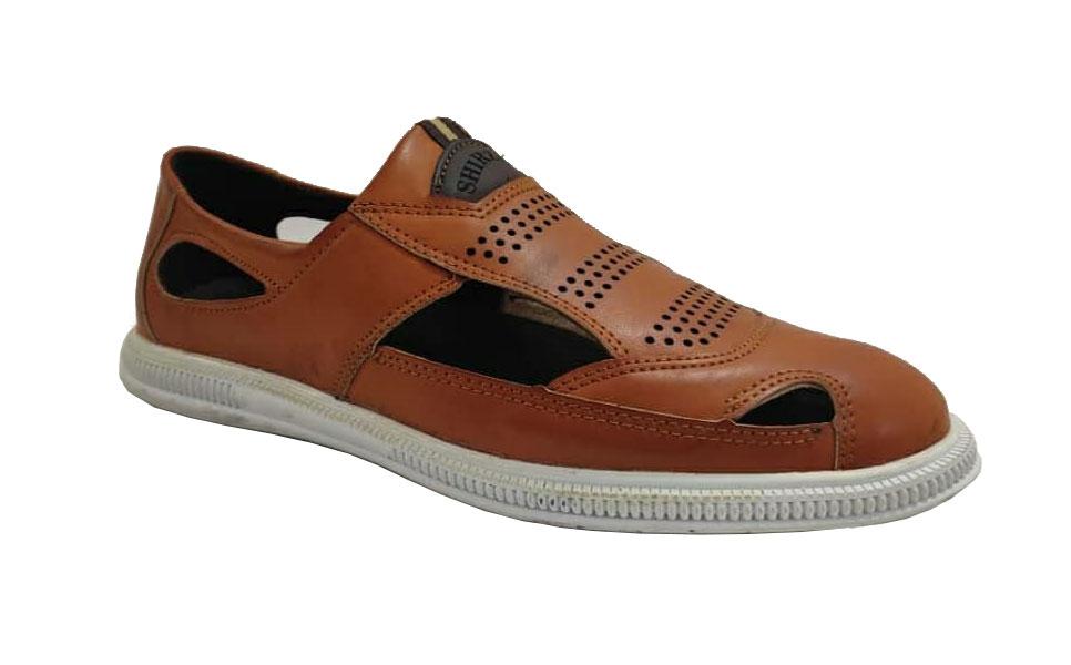 کفش تابستانی  طبی راحتی مردانه چرم طبیعی تبریز کد 388