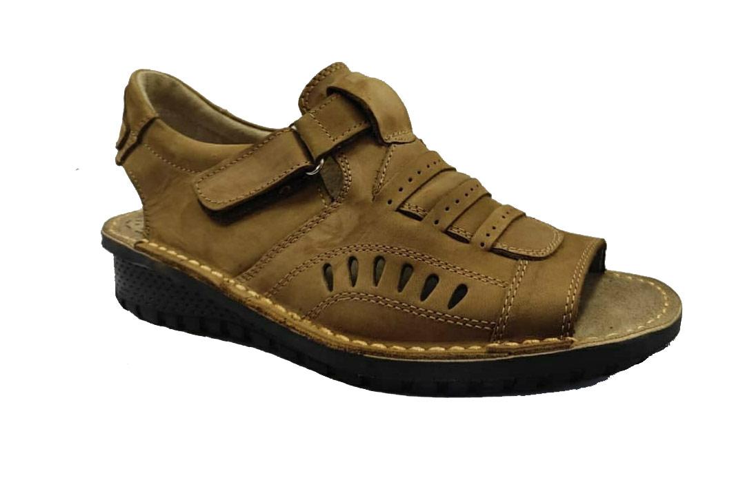 کفش تابستانی  طبی راحتی مردانه چرم طبیعی تبریز کد 386
