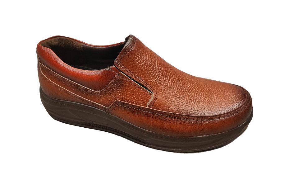 کفش راحتی مردانه چرم  طبیعی کد 297