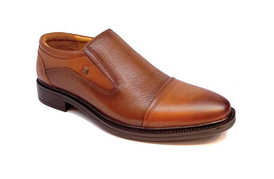 کفش مجلسی مردانه تمام چرم طبیعی گاوی تبریز کد 315