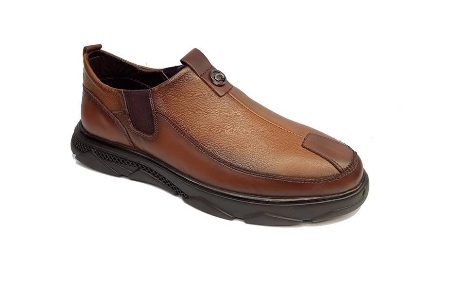 کفش راحتی مردانه تمام چرم طبیعی گاوی تبریز کد 320