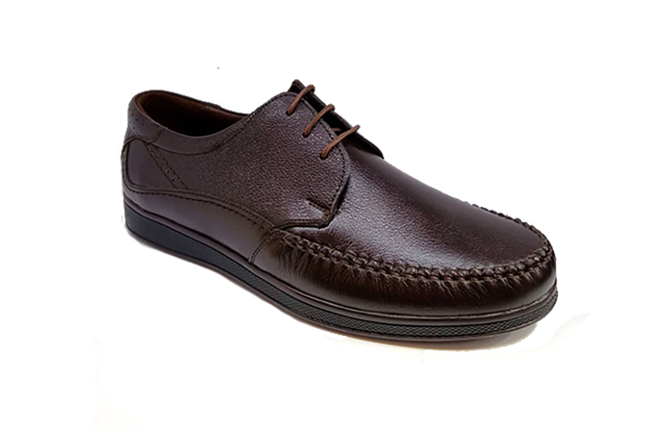 کفش مجلسی راحتی مردانه چرم طبیعی گاوی تبریز کد 329