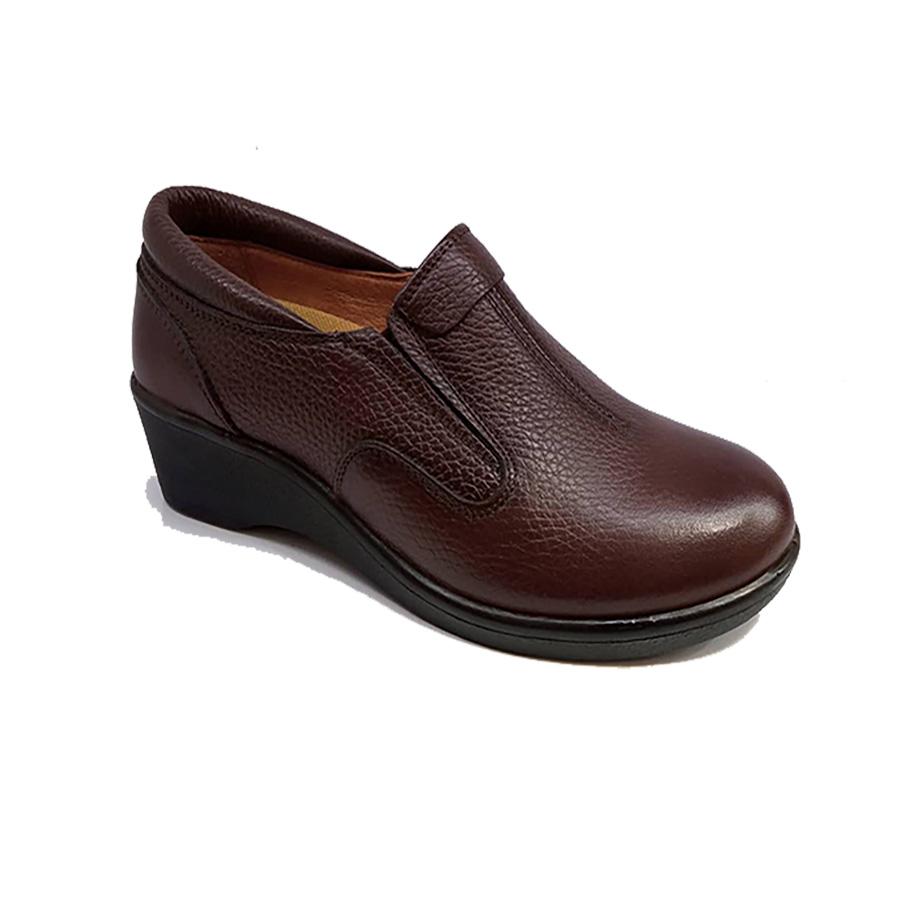 کفش زنانه طبی راحتی چرم طبیعی دست دوز تبریز کد 335