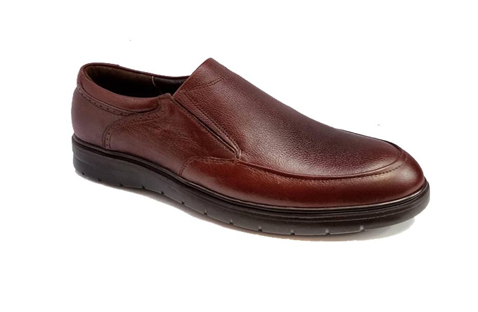 کفش راحتی مردانه تمام چرم طبیعی گاوی تبریز کد 338