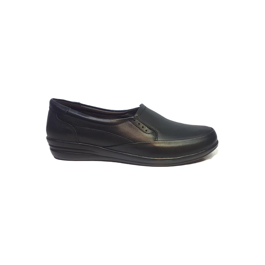 کفش راحتی زنانه  چرم طبیعی دست دوز تبریز کد 345