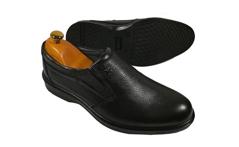 کفش راحتی مردانه چرم طبیعی گاوی تبریز کد 373