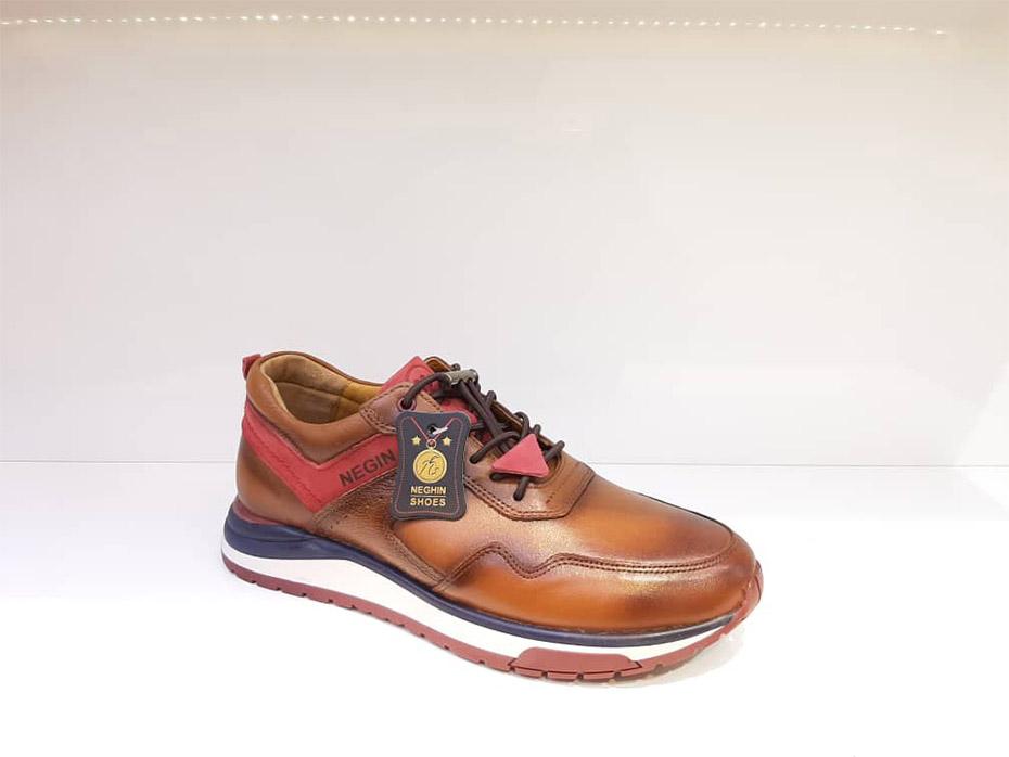 کفش کتونی مردانه چرم طبیعی  تبریز کد 360