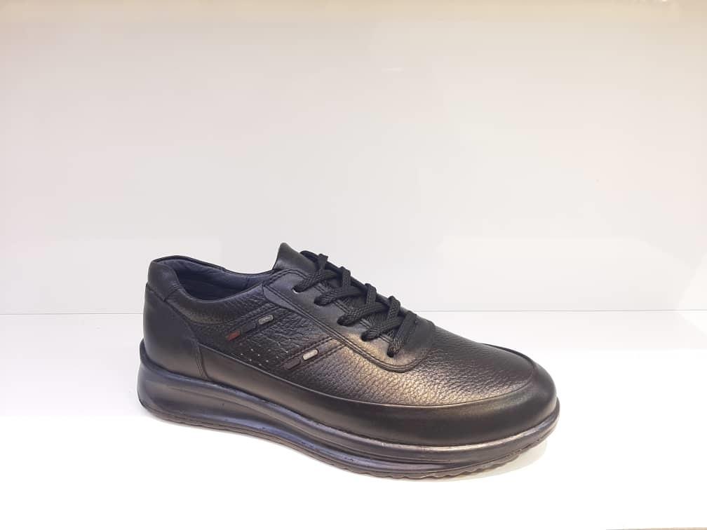 کفش راحتی مردانه چرم طبیعی گاوی تبریز کد 371