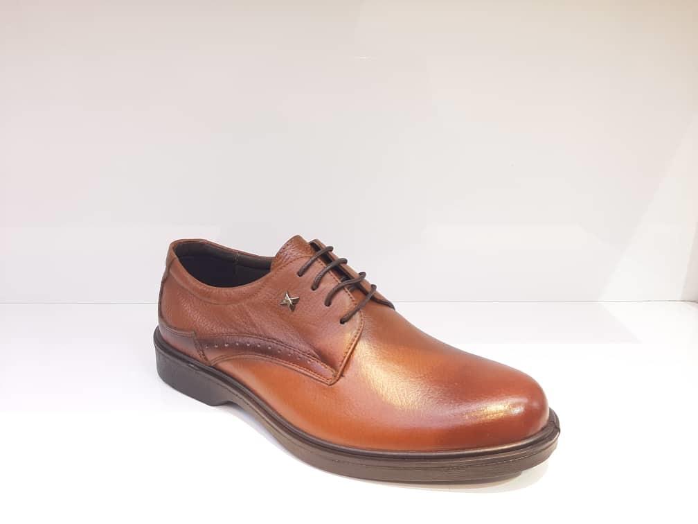 کفش مجلسی مردانه چرم طبیعی گاوی تبریز کد 372