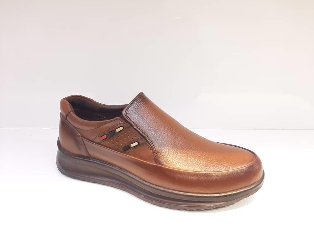 کفش راحتی مردانه چرم طبیعی گاوی تبریز کد 370