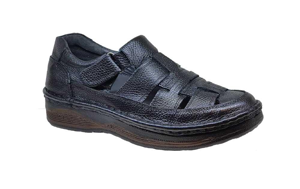 کفش تابستانی مردانه چرم طبیعی  تبریز کد 377