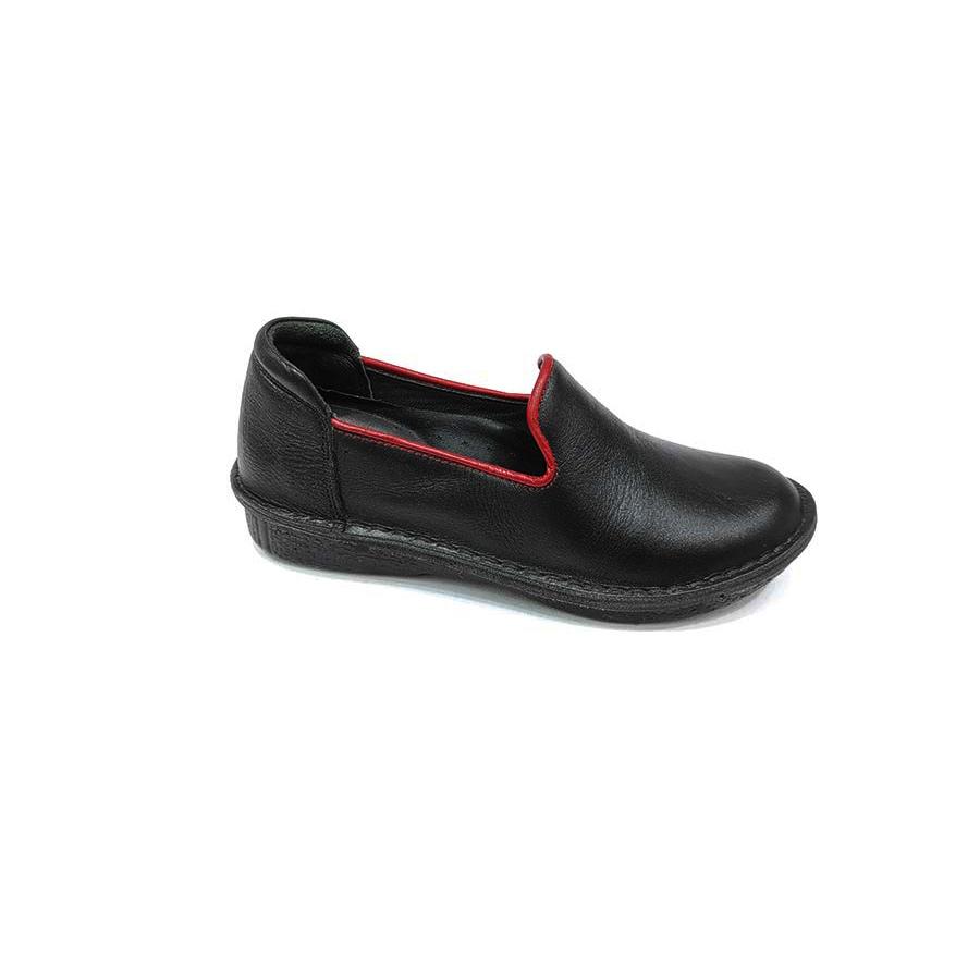 کفش طبی زنانه چرم طبیعی دست دوز تبریز کد 578