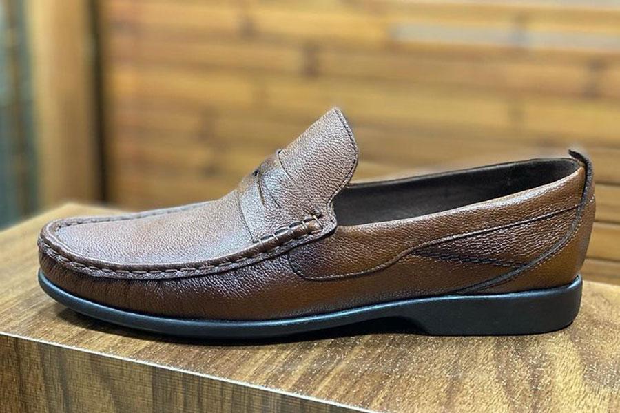 کفش  طبی مردانه تمام  چرم  کد 020