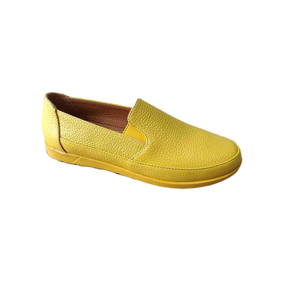 کفش راحتی  زنانه  چرم طبیعی دست دوز تبریز کد 302