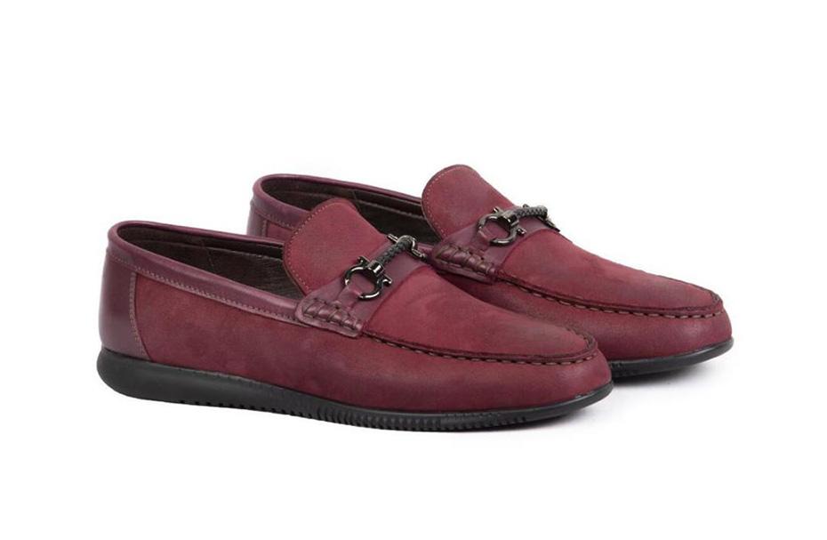 کفش کالج مردانه چرم مدل مادو Mado  کد 220