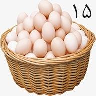 تخم مرغ ۱۵ عددی طلقی