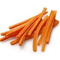 هویج خرد شده خلالی یک بسته