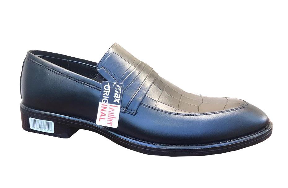کفش چرم  طبیعی مجلسی مردانه دستدوز  تبریز کد123