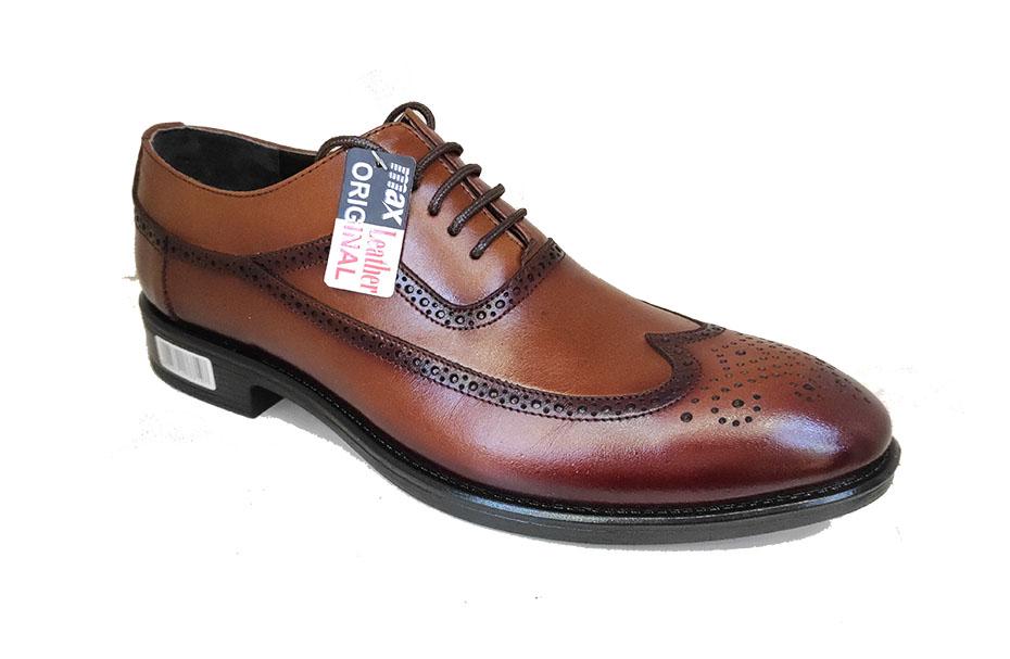 کفش چرم  طبیعی مجلسی مردانه دستدوز  تبریز کد124