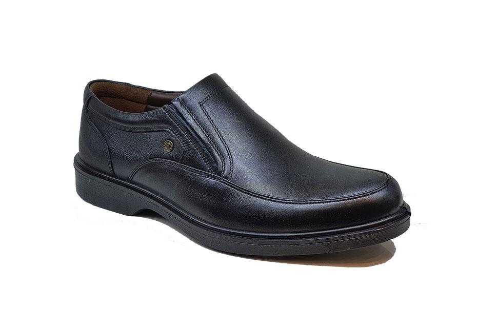 کفش بزرگ پا راحتی مردانه چرم  طبیعی تبریز کد 155