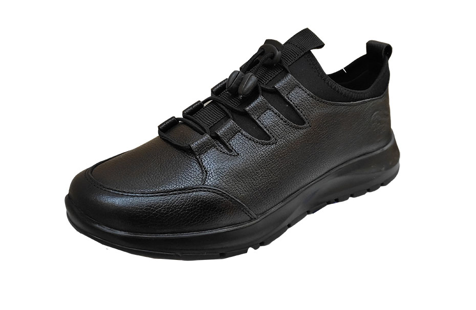کفش مردانه اسپرت چرم طبیعی  تبریز مدل جورابی کد 174