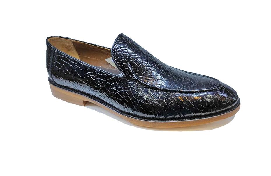 کفش چرم طبیعی مردانه مجلسی مدل jest  کد 310