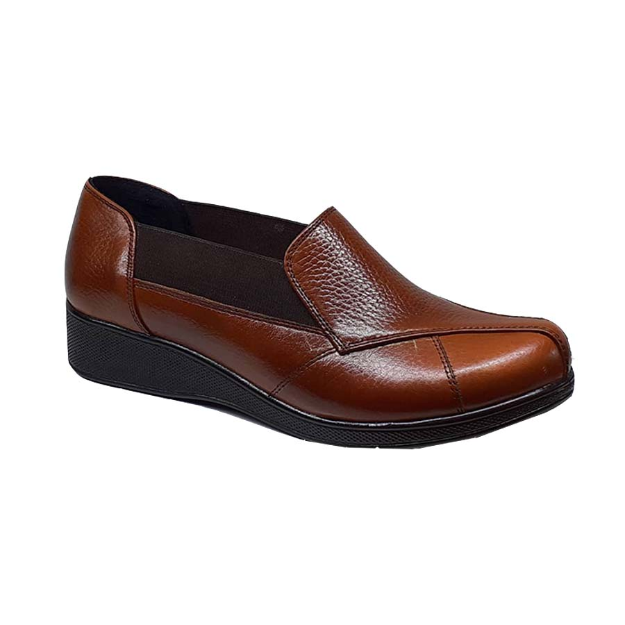 کفش زنانه طبی چرم طبیعی دست دوز تبریز کد 044