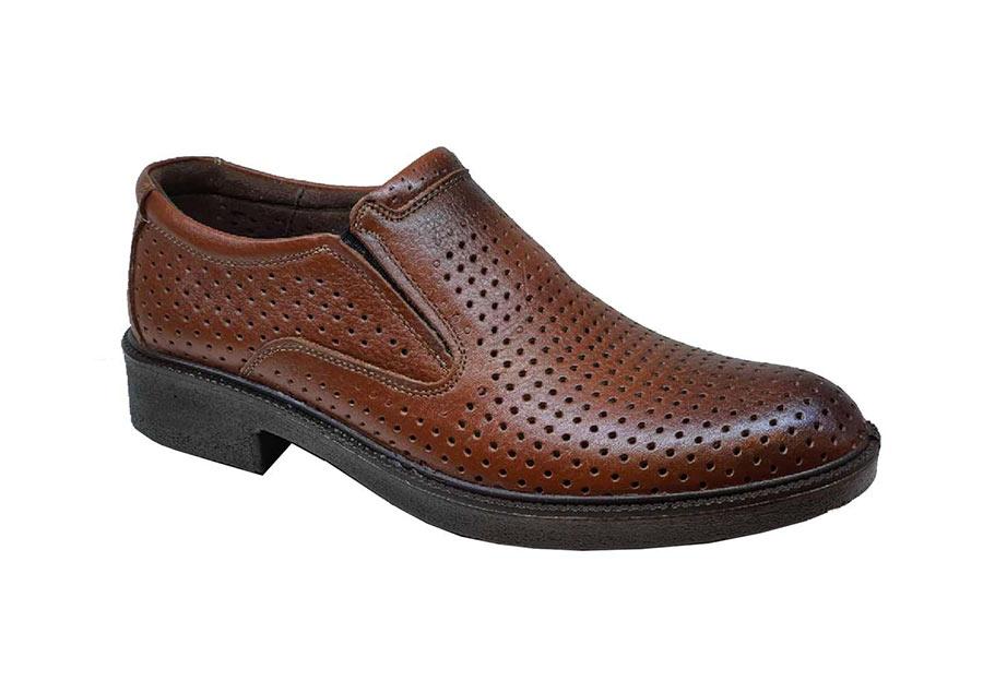 کفش تابستانی  مردانه چرم طبیعی تبریز کد 423