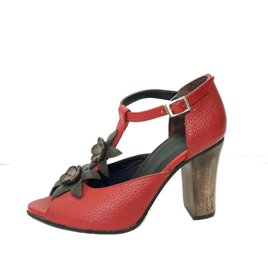 کفش زنانه  چرم طبیعی دست دوز تبریز کد 515
