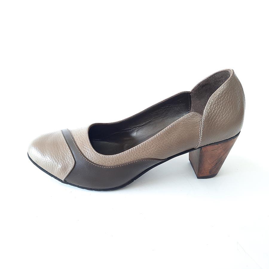 کفش زنانه مجلسی چرم طبیعی دست دوز تبریز کد 977