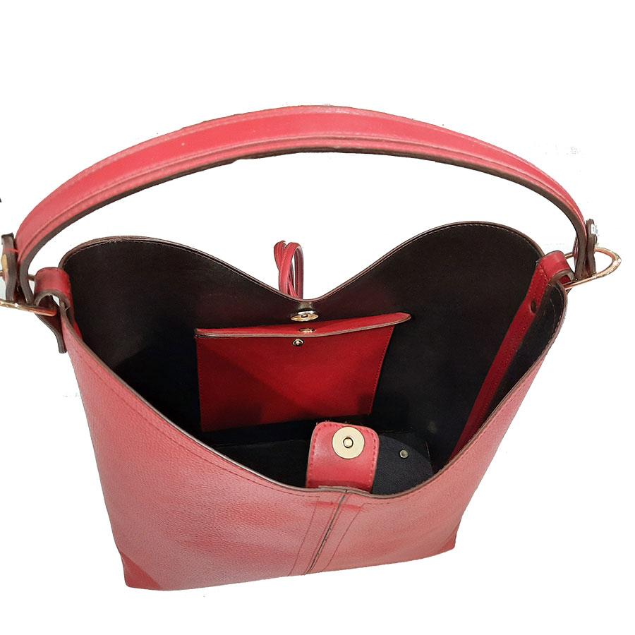 ست کیف و کفش زنانه چرم طبیعی