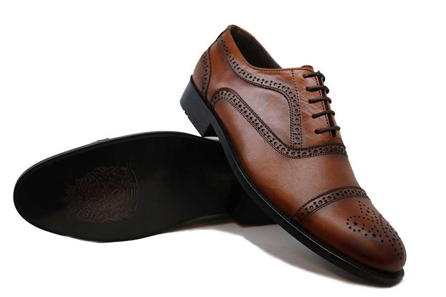 کفش چرم طبیعی مردانه مجلسی مدل ۤFree mood